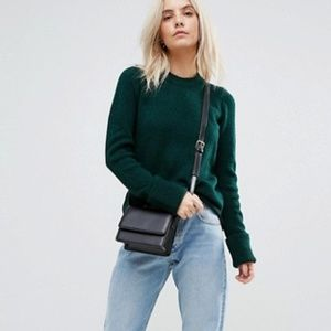 ASOS Green Chunky Sweater Fluffy Yarn 6